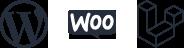 WordPress, WooCommerce, Laravel